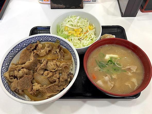吉野家 16号線五井店/牛丼並盛り 豚汁セット