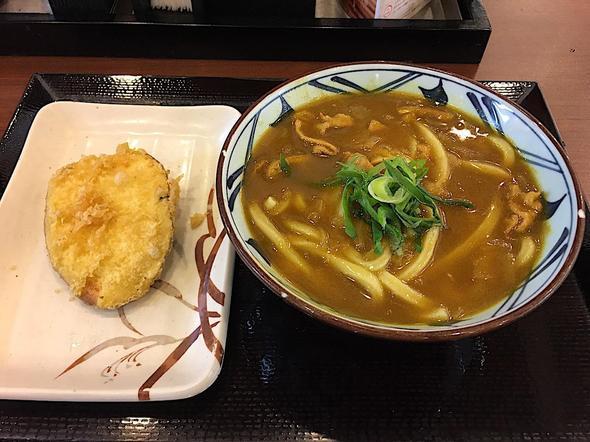 丸亀製麺千葉ニュータウン中央/カレーうどん(並)+さつまいも天
