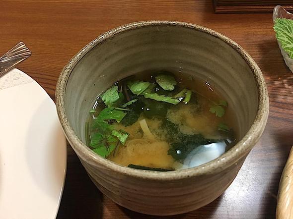 郷土料理たけのこ/たけのこ御膳の味噌汁