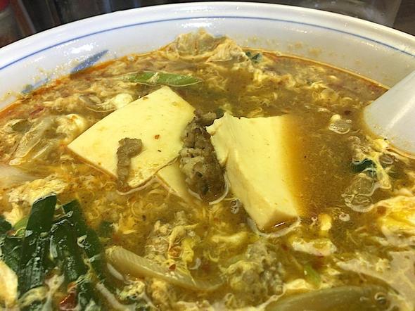 中華料理 らーめん 寿楽/マーボーメンのお豆腐