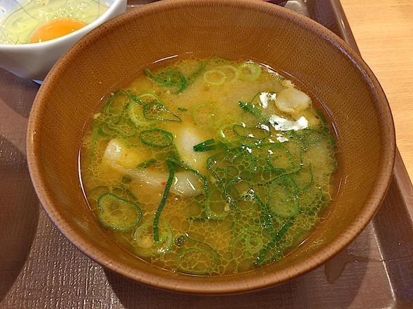 すき家 おゆみ野店/牛丼(並盛り)カレーとん汁たまごセットのカレー豚汁