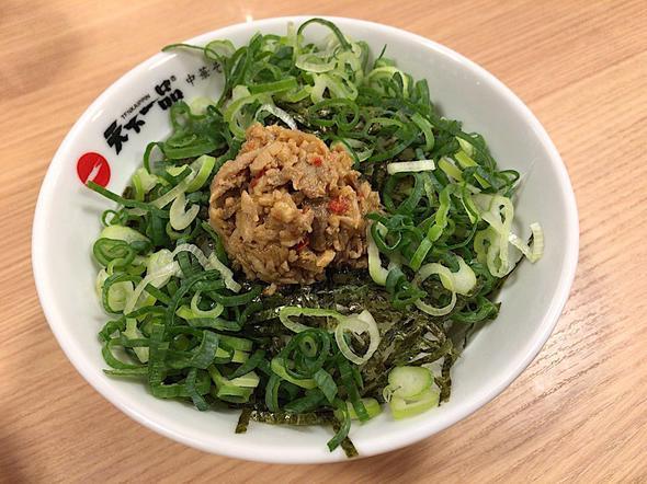 天下一品 柏店/チャーシュー丼定食 屋台の味のチャーシュー丼