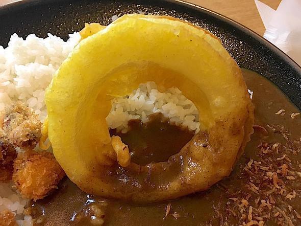 ちゃりこ/淡路島カレー/玉ねぎの天ぷら