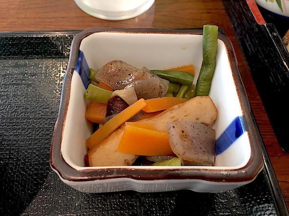 道の駅 キラメッセ室戸 食遊 鯨の郷/鯨の刺身定食の小鉢