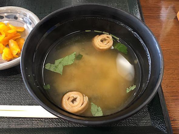 道の駅 キラメッセ室戸 食遊 鯨の郷/鯨の刺身定食の味噌汁