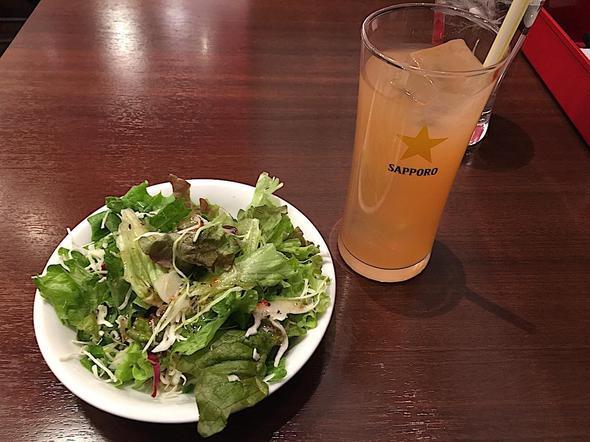 ビストロ石川亭 豊洲フォレシア店/サラダとドリンク