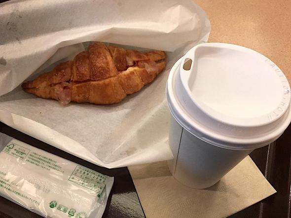 カフェ クロワッサン/Cafe CROISSANT 青山ツインタワー店/ベーコン&エッグサラダ + ドリンク モーニングセット