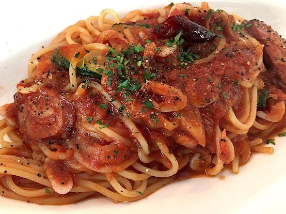 イタリアン・ダイニング・マルメロ/ITALIAN DINNING MARMELO/ソーセージ・ズッキーニ・桜エビのアラビアータ