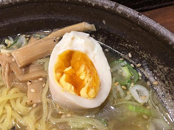 らーめん一郎/ラーメンイチロウ/味玉塩ラーメン/味玉