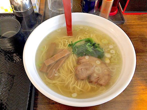 麺処 梅吉/塩ラーメン + Aセット(麺類 + 卵かけご飯 + お新香)