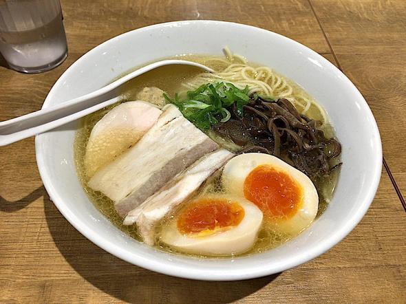 濃厚鶏白湯 麺屋 こいけ/アゴ出汁鶏そば + 味玉