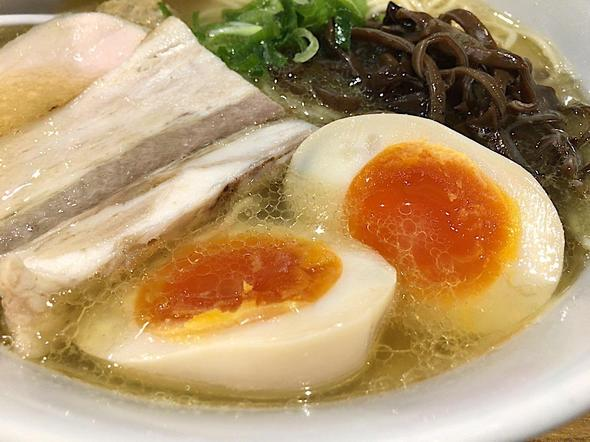 濃厚鶏白湯 麺屋 こいけ/アゴ出汁鶏そば 味玉