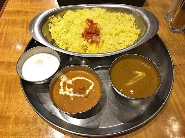 インド定食 ターリー屋 新青山ビル店/2色カレー定食 バターチキン&マトン
