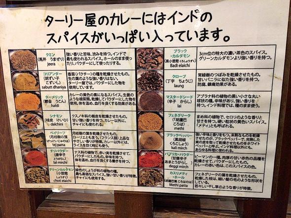 インド定食 ターリー屋 新青山ビル店/スパイス