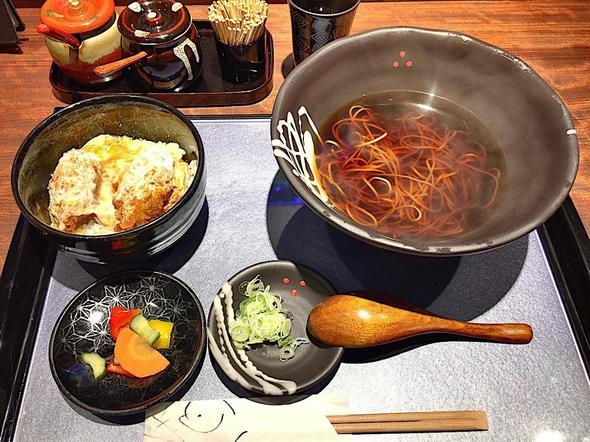 青山水内庵/ミニ丼セット(カキフライ丼 + かけ蕎麦)