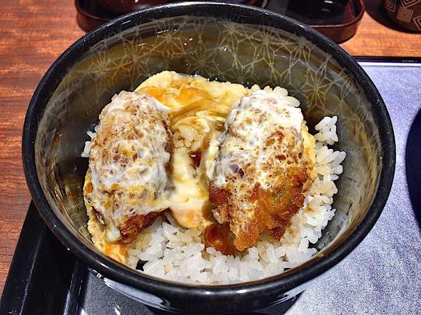 青山水内庵/ミニ丼セットのカキフライ丼