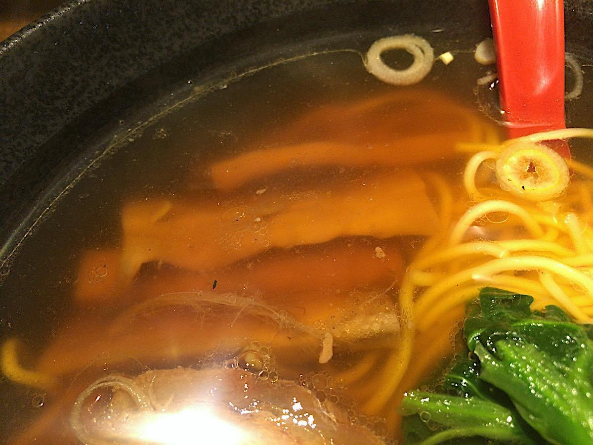 麺処 梅吉/醤油ラーメン + Bセット(麺類 + 半餃子(3ケ) + 半ライス)