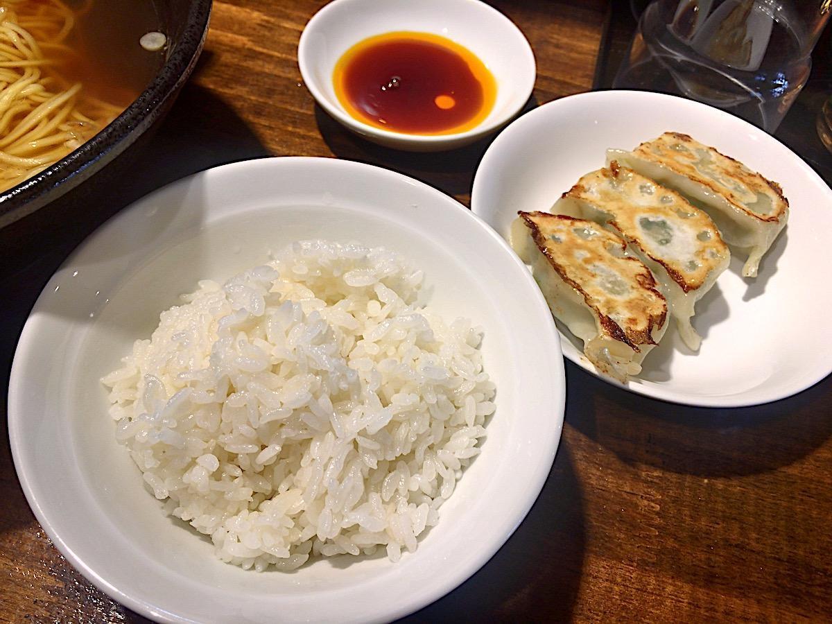 麺処 梅吉/Bセット(半餃子(3ケ) + 半ライス)