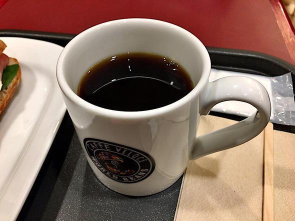 カフェ・ベローチェ/CAFFE Veloce 茅場町駅前店/焼きたてサンド カマンベール&ハム + ブレンドコーヒー