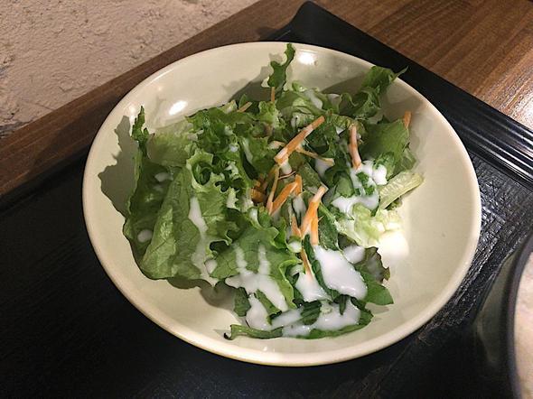 山海楽酒 およよ 西新宿店/ビフテキランチのサラダ