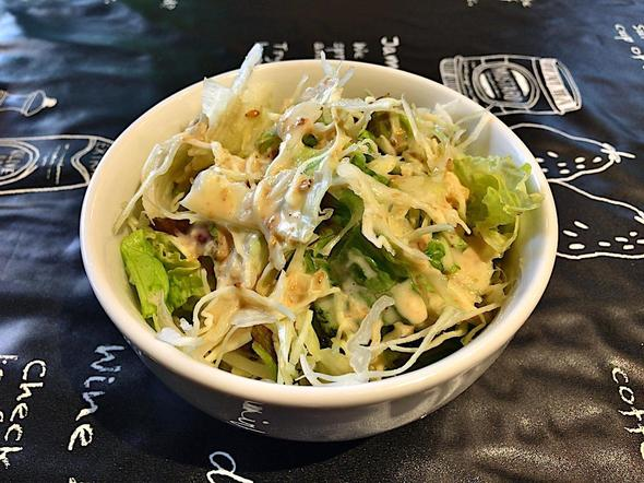 ヒマラヤンキッチン/HIMALAYAN KITCHEN/キーマ(挽肉)カレーセットのサラダ