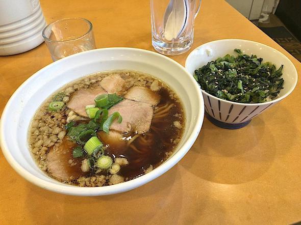尾道らーめん めでたい屋/尾道らーめん + 青しそ広島菜ご飯