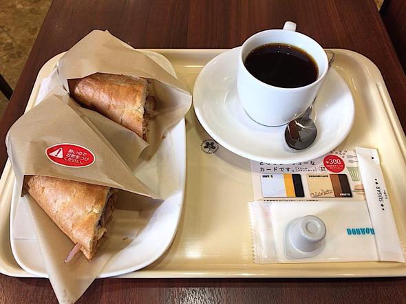 ドトールコーヒーショップ/DOUTOR COFFEE 築地聖路加通り店/煮込みビーフとカマンベールチーズ 赤ワイン仕立て +ブレンドコーヒー S