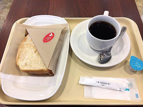 ドトールコーヒーショップ/DOUTOR COFFEE 築地聖路加通り店/モーニング・セットB 3種のチーズとベーコン・エッグ + ブレンドコーヒー