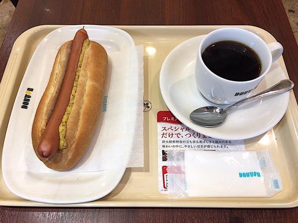ドトールコーヒーショップ/DOUTOR COFFEE 築地聖路加通り店/モーニング・セットC ジャーマンドック + ブレンド・コーヒー