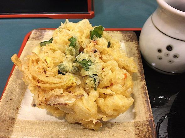 小諸そば 八丁堀駅前店/かき揚げ