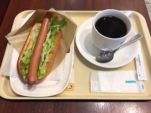 ドトールコーヒーショップ/DOUTOR COFFEE 築地聖路加通り店/レタスドック + アメリカンコーヒー