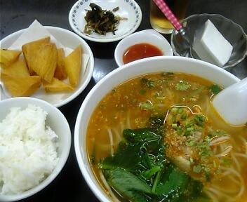 ビルマ シャン料理 ノング インレイ/ミシェ(スープ入り)