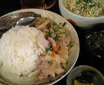 やきとん 座豚/ZA BUTA/豚しゃぶ丼 -ゴマ風味-