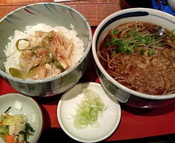 蕎麦 旬菜 浅野屋/小さいたぬきと小さい京風きつね丼
