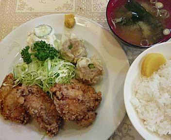キッチン ニュー早苗/鳥の立田揚定食(日替わり定食)