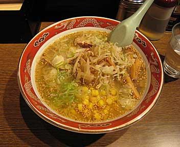 ラーメン専門 味一 高田馬場店/塩ラーメン + コーン
