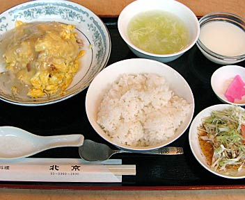 中国料理 北京/豚肉と玉子のあんかけ風炒め