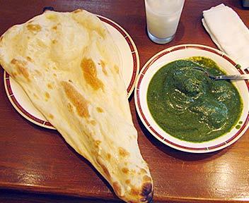 ほうれん草とチキンのカレー/インド料理 グレートインディア 高田馬場店/GREAT INDIA