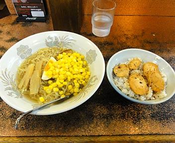 千貫ラーメン ほづみ/塩ラーメン+焼鳥丼