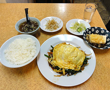 中国厨房 一番飯店/ニラ玉炒め定食