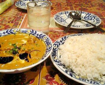 インド料理 マラバール(MALABAR)/マチリベンガン(魚と茄子のミックスカレー)